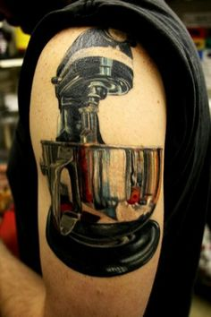 Kitchen aid...nice work with the metallic look.