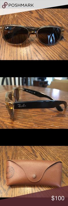 Ray Ban classic wayfarers Tan and black been worn twice, no scratches or marks Ray-Ban Accessories Sunglasses