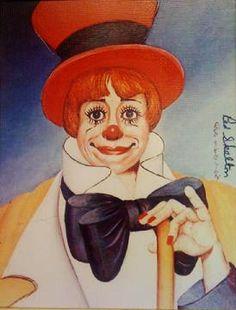 """Clown's Clown"" painting by RED SKELTON. (""Clown's Clown"" is a depiction of Carol Burnett)"