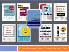 The Middle School Counselor: Affirmation Poster Set