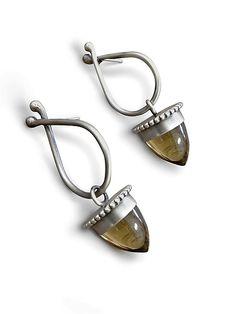 Acorn Earrings by Lauren Blais: Silver