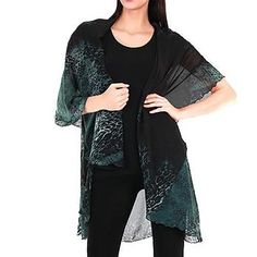The Versatile Vest – Sleeves 2 Go Kimono Top, Chiffon, Vest, One Piece, Pretty, Sleeves, How To Wear, Beauty, Color