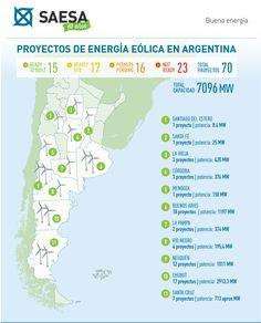 Abril 2016. Mapa de Proyectos Eólicos desarrollado por SAESA.