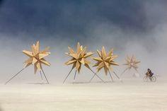 Star-architecture at Burning Man.