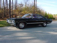 By the way this is not baby. This is a impala two door 1967 coup hard top ss. Baby is a 1967 impala four door sedan hard top. Impala 67, 1967 Chevy Impala, Tame Impala, My Dream Car, Dream Cars, Winchester Brothers, Dean Winchester, Supernatural Memes, Superwholock