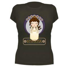 Camiseta Kokeshi Hypatia de Alejandría - pendientera