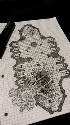 Dungeon Tiles, Dungeon Maps, Fantasy Map Making, Fantasy Art, Isometric Map, Rpg Map, Dnd 5e Homebrew, Environment Concept Art, Cool Sketches