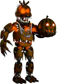 — Jack-O-Chica, Ultimate Custom Night Jack-O-Chica is a Halloween-themed reskinned variant of Nightmare Chica. She first appeared in Five Nights at Freddy's where she replaces her original counterpart for the Halloween Edition. Five Nights At Freddy's, Five Night At Fredis, Fnaf Freddy, Freddy Fazbear, Fnaf Jumpscares, Fnaf 4, Anime Fnaf, Fnaf Wallpapers, Fnaf Characters