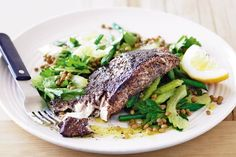 Lemony sumac perfectly compliments fish. Serve with a crunch green bean, lentil and parsley salad for a fresh and zingy meal.