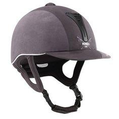 Horse-Riding Helmets Horse Riding - Athracite HRC C600 helmet FOUGANZA - Horse Riding Equipment DARK_GREY