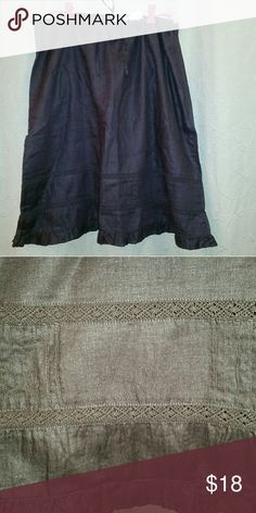 bff1db85e8 20 Nwt Plus Old Navy midi linen skirt brown Old Navy brown linen skirt New  with