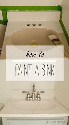 To Paint A Sink How To Paint A Bathroom Sink: Quick, Easy and Inexpensive Way To Update Your Bathroom - No Plumber Needed!How To Paint A Bathroom Sink: Quick, Easy and Inexpensive Way To Update Your Bathroom - No Plumber Needed! Home Renovation, Basement Renovations, Painting A Sink, Painting Bathroom Sinks, Paint Bathroom Cabinets, Bathroom Towels, Painting Bathroom Countertops, Bathroom Sink Decor, Diy Bathroom Ideas