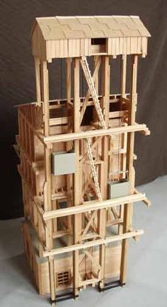 Coaling Tower Plans | The unpainted coaling tower built by U. Weibel in Switzerland. These ...