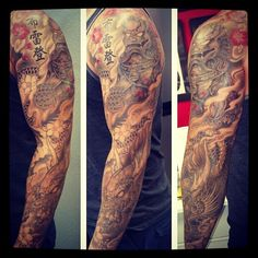 Foodog and dragon full sleeve. Almost finish #Padgram