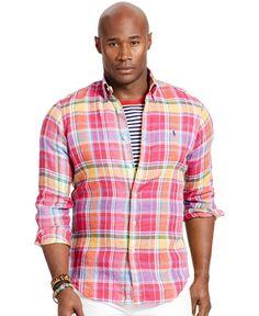 Polo Ralph Lauren Big & Tall Plaid Linen Shirt
