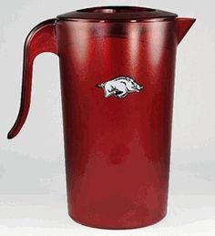 NCAA Collegiate Arkansas Razorbacks 2.5 Quart Plastic Beverage Pitcher $20.00