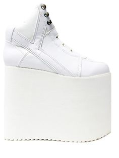 0d6d8fefc Description Sizing White vegan leather upper. White EVA platform. 6″ heel  and 5