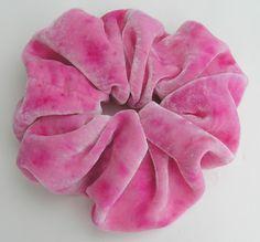SILK VELVET Scrunchie hand dyed light pink by SplendidLittleStars, $8.95