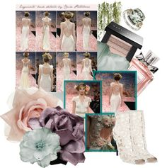 A fashion look from April 2013 featuring heeled ankle booties, band rings and flower hair clips. Browse and shop related looks. Wedding Designs, Runway, Gift Wrapping, Bride, Shoe Bag, Polyvore, Women, Cat Walk, Gift Wrapping Paper