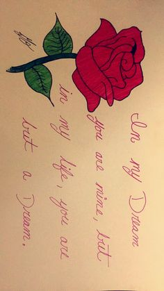 #Rose #Color #Drawing #Quote