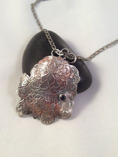 Rainbow Patina Etched Pendant by WithTheseHandsCreate on Etsy