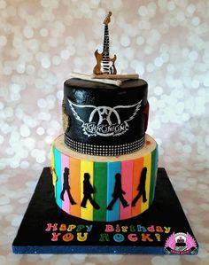 Guitar/Beatles/Aerosmith Birthday Cake - Cake by Cakes ROCK!!!