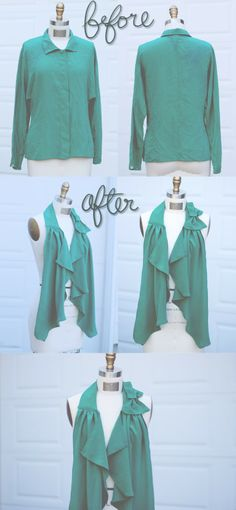 Remended: Silk Shirt Refashion