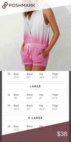 💋Victoria Secret cover up Romper Have some fun in the sun🌞 with this super cute flirty cover up 👙pink ombre romper! Elastic waist with ties. Pocket on each side and a hood .. Angel wings on bottom left as seen in picture ..Stylish and fun..🌊 A must have!! Please see pic 2 for sizing.✈🎁 Swim Coverups