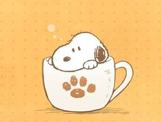 Snoopy is my cup of tea! Snoopy Love, Snoopy And Woodstock, Peanut Pictures, Snoopy Images, Peanuts Characters, Snoopy Quotes, Cartoon People, Charlie Brown And Snoopy, Beagle Dog