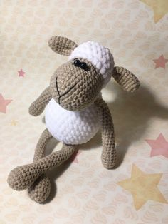This is an Amigurumi Sheep Toy Free Crochet Pattern. These sweet amigurumi sheep are created in the blink of an eye! The amigurumi pattern is super easy and fun to make. Crochet Gratis, Crochet Amigurumi, Crochet Doll Pattern, Crochet Toys Patterns, Knit Or Crochet, Amigurumi Doll, Amigurumi Patterns, Stuffed Toys Patterns, Crochet Dolls