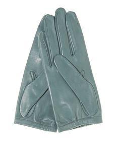Fratelli Orsini Women's Unlined Italian Fashion Leather Gloves with Short Wrist, Size: 8 1/2, Orange