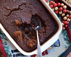 Gingerbread Pudding Cake ♥ KitchenParade.com, layers of cake and pudding. It's magic! Weight Watchers PointsPlus 11, worth the splurge ...
