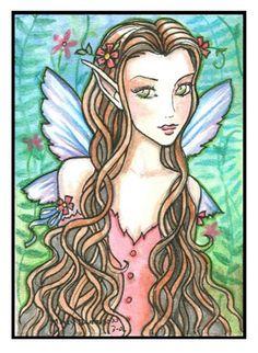 Fairy Art: Fae Gwenneth ACEO by Artist Molly Harrison