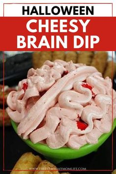 Don't lose your head over finding the perfect food and novelty items for your Halloween party. This Cheese for Brains Halloween Dip is a killer. #halloween #fun #recipe #halloweenideas Halloween Dip, Halloween Food For Party, Halloween Treats, Food Website, Novelty Items, Perfect Food, Breakfast Recipes, Dips, Food And Drink