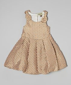 Loving this Gold Circle Bubble Dress - Infant & Girls on #zulily! #zulilyfinds