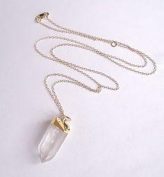 Quartz Crystal Necklace by Metaphysix on Etsy