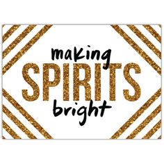 Spirits Bright Invite Gold   2014 Holiday Collection #InkCards
