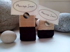 Driftwood holders for business cards