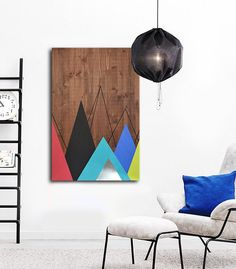 Wood Art Wall Metal Modern