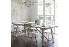 Sawyer White Washed Dining Table. Available to order from all Rachel Ashwell Shabby Chic Couture retail locations and at www.shabbychic.com