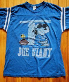 "Vintage ""Joe Giant"" New York Giants Snoopy T-shirt"