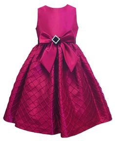 Jayne Coepland Kids Dress, Girls Taffeta Bow Dress