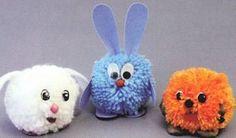 Pom poms are very cute. You can make this crafts easily! Make pom poms with children. Dog Crafts, Diy And Crafts, Crafts For Kids, Arts And Crafts, Toy Pom, Pom Dog, Pom Pom Animals, How To Make A Pom Pom, Pom Pom Crafts