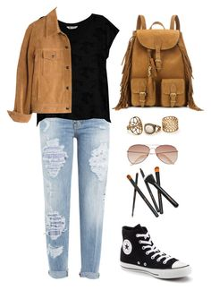 """Untitled #24"" by beckyleanne on Polyvore featuring Dsquared2, Bobeau, Converse, Yves Saint Laurent, Madewell and H&M"