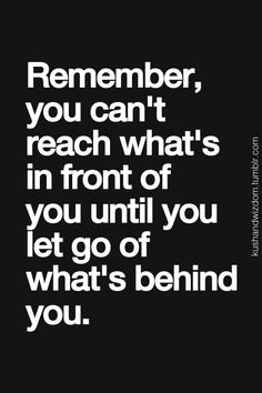 Reflect on this quote in times of growth and struggle. Let go of old habits + baggage to reach your goals!