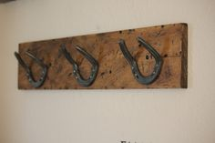 Bent Horseshoe Hat Rack by WannabeWelding on Etsy