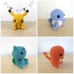 Then test yourself with these amazing crafts. Pokemon Crochet Pattern, Pikachu Crochet, Kawaii Crochet, Crochet Doll Pattern, Crochet Patterns Amigurumi, Cute Crochet, Knit Crochet, Pokemon Craft, Mario Crochet