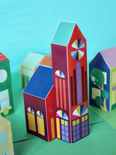 Free printable DIY Paper Toy Neighborhood Town - print this church, and 25+ other houses, cars, and people - via SmallforBig.com