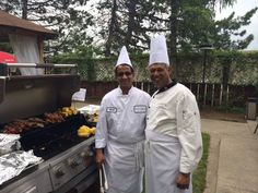 Two of our chefs manning the grill during a client event.