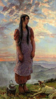 British Paintings: Dame Laura Knight - Beulah on top of the hills